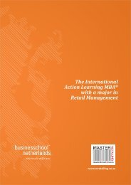 Brochure MBA - Business School Netherlands