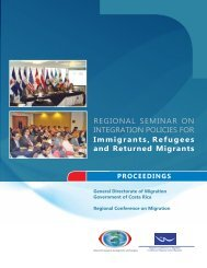 Proceedings of the Regional Seminar on Integration Policies for ...