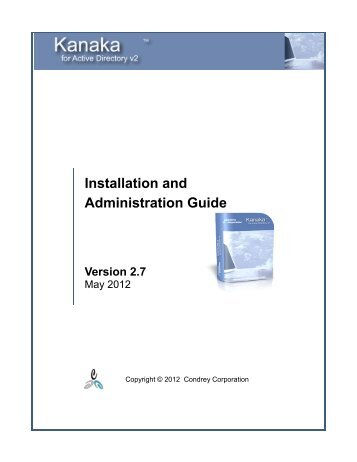 Install and Admin Guide.pdf - Condrey Corporation
