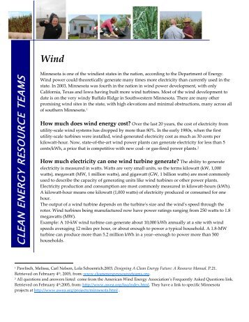 Wind - Clean Energy Resource Teams