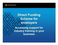 Direct Funding Scheme for employers - Tertiary Education ...