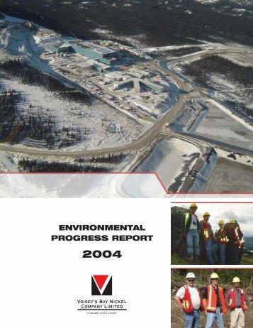 2004 Environmental Progress Report - Voisey's Bay Project