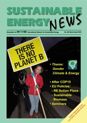 Sustainable Energy News No. 68 March April 2010 - International ...