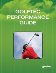 GOLFTEC PERFORMANCE GUIDE