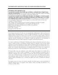 INFORMACIÓN ADICIONAL PARA ACUSADOS MENORES DE ...