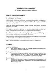 Vedligeholdelsesreglement for afdeling 701 Høydalstorvet