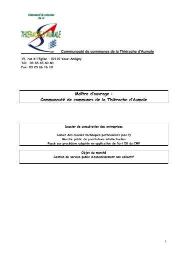 CCTP SPANC CCTA.pdf - La Communauté de Communes de la ...