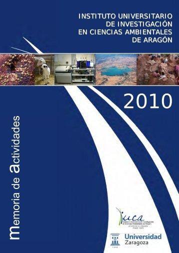 Memoria de Actividades 2010 - IUCA - Universidad de Zaragoza