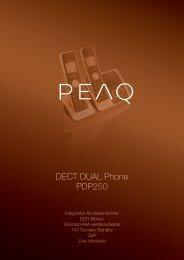DECT DUAL Phone PDP250 - PEAQ