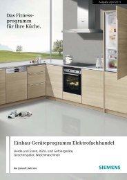 Einbau-Geschirrspüler - Siemens Hausgeräte