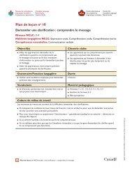Plan de leçon no 10