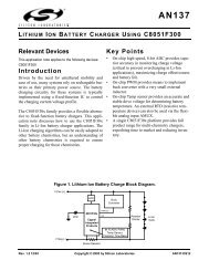 LITHIUM ION BATTERY CHARGER USING C8051F300 Relevant ...