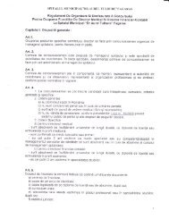 Regulament organizare si desfasurare - Spitalul Municipal Fagaras