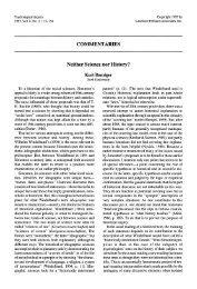 COMMENTARIES Neither Science nor History? - Kurt Danziger