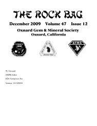 December - Oxnard Gem & Mineral Society