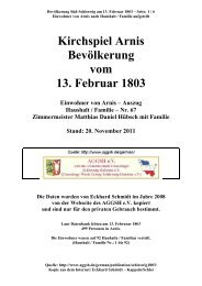 Kirchspiel Arnis Bevölkerung vom 13. Februar 1803 - Eckhard ...