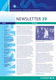 Newsletter - Australian Domestic and Family Violence Clearing House