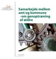 Samarbejde mellem amt og kommune - Socialstyrelsen