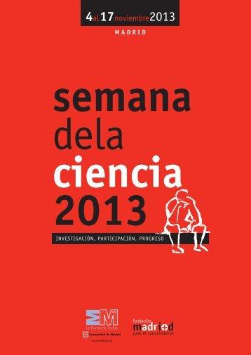 Presentación XIII semana ciencia 2013 - Madri+d