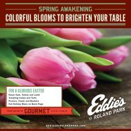 colorful blooms to brighten your table - Eddies of Roland Park