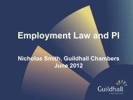 Employment Law & PI - PowerPoint Slides - Nick Smith - Guildhall ...