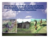 Climate change and Rural Livelihoods in Northern Ethiopia
