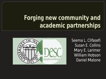 Forging New Partnerships - Housing First Partners Conference
