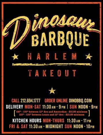 H a r l e m Takeout - Dinosaur Bar-B-Que