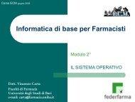 Sistema Operativo - Università degli Studi di Bari