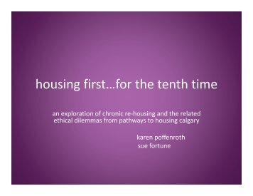 Housing First, for the 10th Time - Poffenroth, Fortune