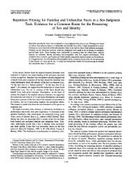 Repetition Priming for Familiar and Unfamiliar Faces in a Sex ...