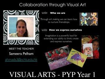 Visual Arts Back to School Night 2012