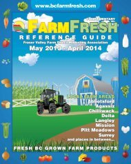Pages 1 to 6 - Fraser Valley Farm Fresh