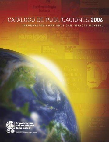catálogo de publicaciones 2006 - PAHO Publications Catalog