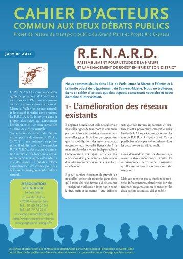 CAHIER D'ACTEURS - Le Renard