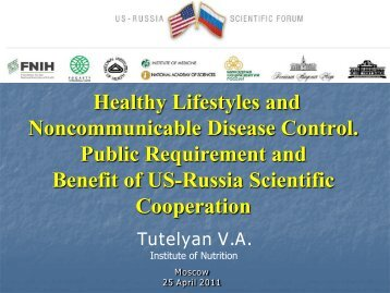Healthy Lifestyles - Foundation for the National Institutes of Health