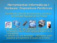 06 Hardware Dispositivos Perifericos.pdf - Facultad de Ciencias ...