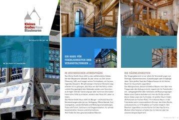 infoflyer (pdf) - Kleines Großes Haus Blaubeuren