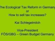 The Ecological Tax Reform in Germany or How to sell tax increases ...