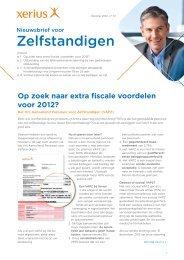 Nieuwsbrief voor Zelfstandigen nr.72 – oktober 2012 - Xerius