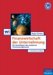 Finanzwirtschaft der Unternehmung <Leseprobe> - *ISBN 978-3 ...