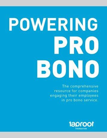 Powering Pro Bono - Taproot Foundation