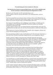 Pressemitteilung des Kreisvorstandes Entwurf - Kreis 4 Beckum