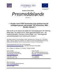 IKT-branschen, Mitt - Interreg Sverige Norge