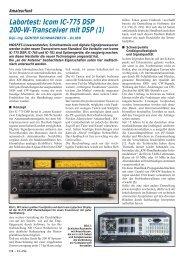 Labortest: Icom IC-775 DSP 200-W-Transceiver mit DSP (1)