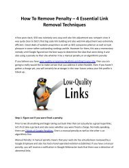 How To Remove Penalty – 4 Essential Link Removal Techniques