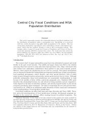 Central City Fiscal Conditions and MSA Population Distribution