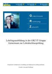 Lehrlingsausbildung in der GRZ IT Gruppe - FAV OÖ