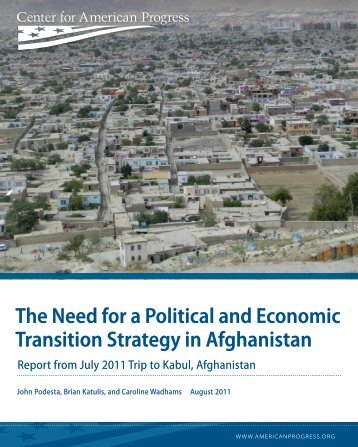 The Need for a Political and Economic Transition Strategy in ...
