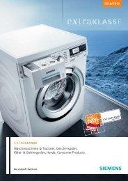 Waschmaschinen & Trockner, Geschirrspüler, Kälte ... - Siemens